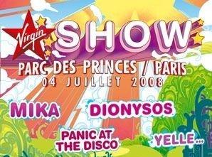 Virgin Show : Mika + Dionysos @ Parc des Princes (Paris), 4 Juillet 2008