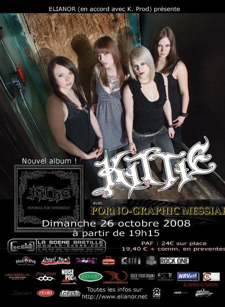 Kittie @ La Scène Bastille (Paris), le 26 Octobre 2008