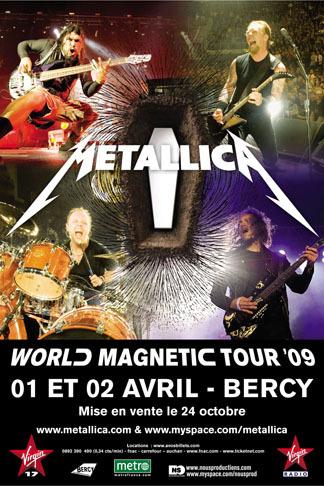 Metallica + Machine Head + The Sword @ Bercy (Paris), les 01 et 02 Avril 2009