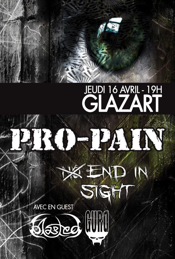 Pro Pain + Gurd + Blasted @ Glazart (Paris), le 16 Avril 2009