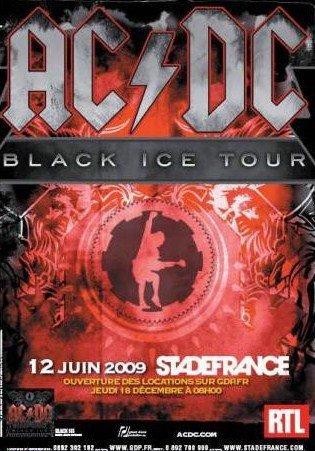 AC/DC + The Answer + Cafe Bertrand @ Stade de France (Paris), le 12 Juin 2009