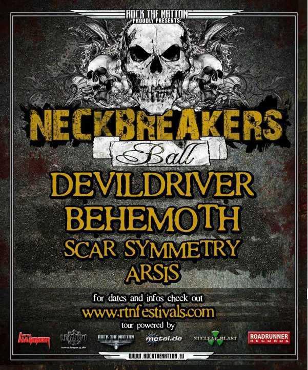 Neckbreakers Ball :  Behemoth + DevilDriver + Scar Symmetry @ La Loco (Paris), le 27 Octobre 2009