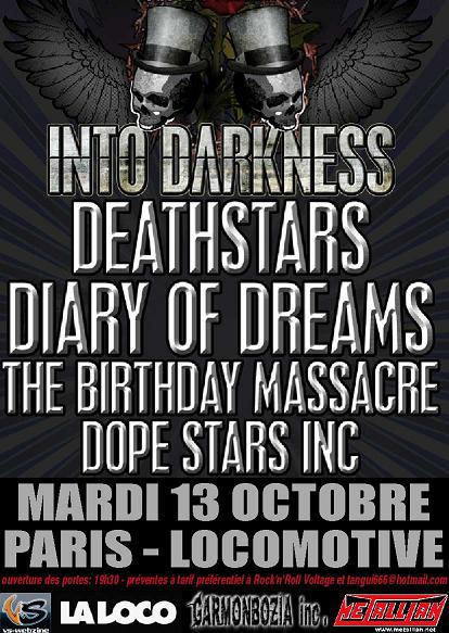Deathstars + Diary Of Dreams + Lacrimas Profundere @ La Loco (Paris), le 13 Octobre 2009