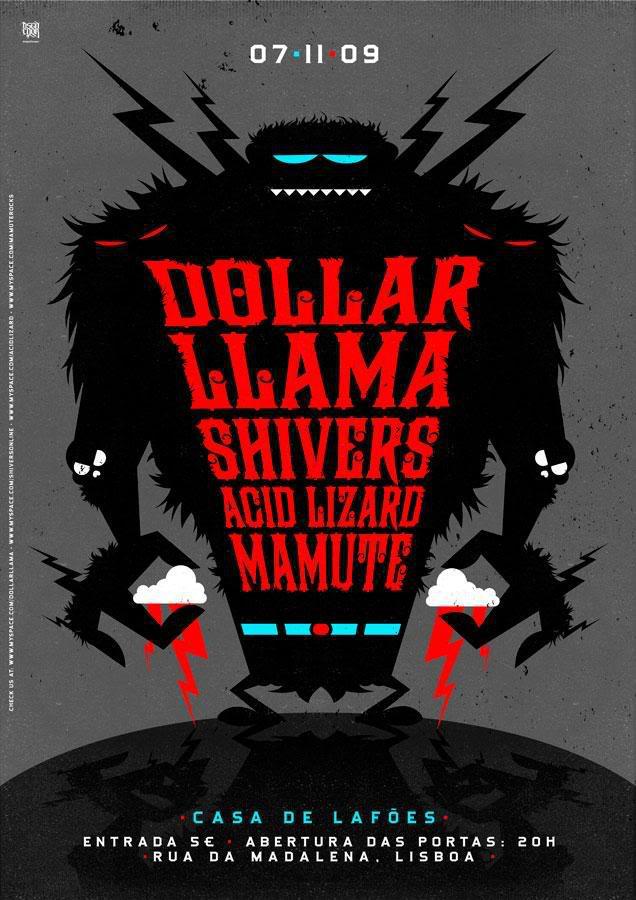 Dollar Llama + Shivers + Acid Lizard @ Casa de Lafoes (Lisbonne), le 07 Novembre 2009