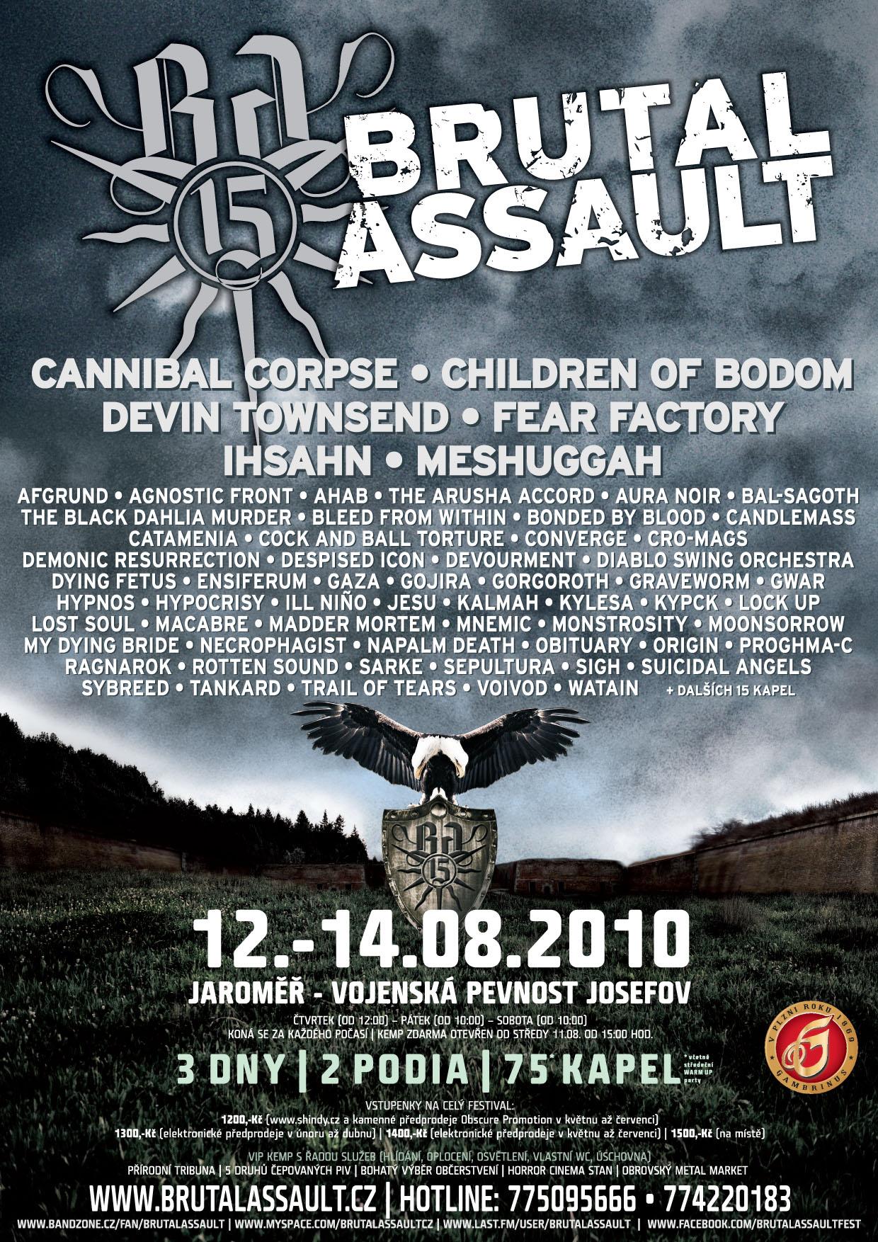 Brutal Assault 2010 @ Jaromer (République Tchèque), du 12 au 14 Aout 2010