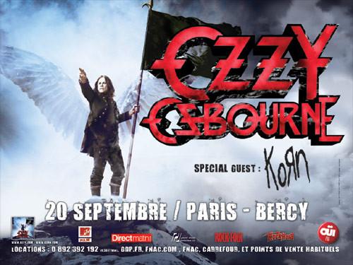 Ozzy Osbourne + Korn, Bercy (Paris), le 20 Septembre 2010
