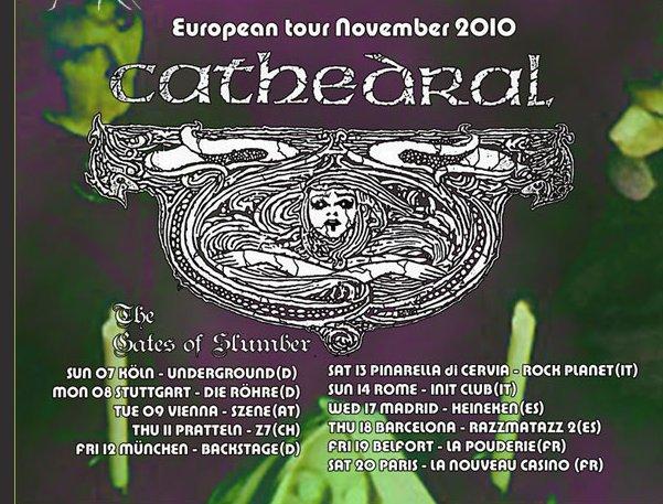 Cathedral + The Gates Of Slumber @ Divan du Monde (Paris), le 20 Novembre 2010