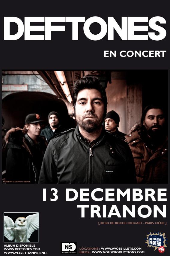 Deftones @ Trianon (Paris), le 15 Décembre 2010