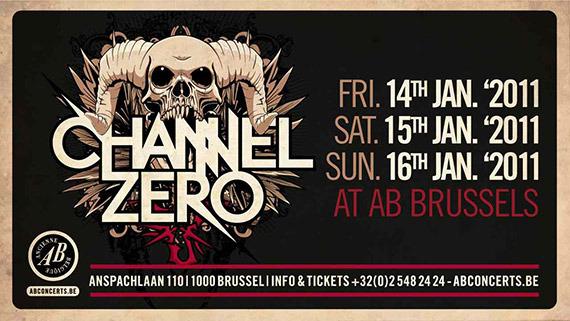 Channel Zero @ l'Ancienne Belgique (Bruxelles, Belgique), le 14 Janvier 2011