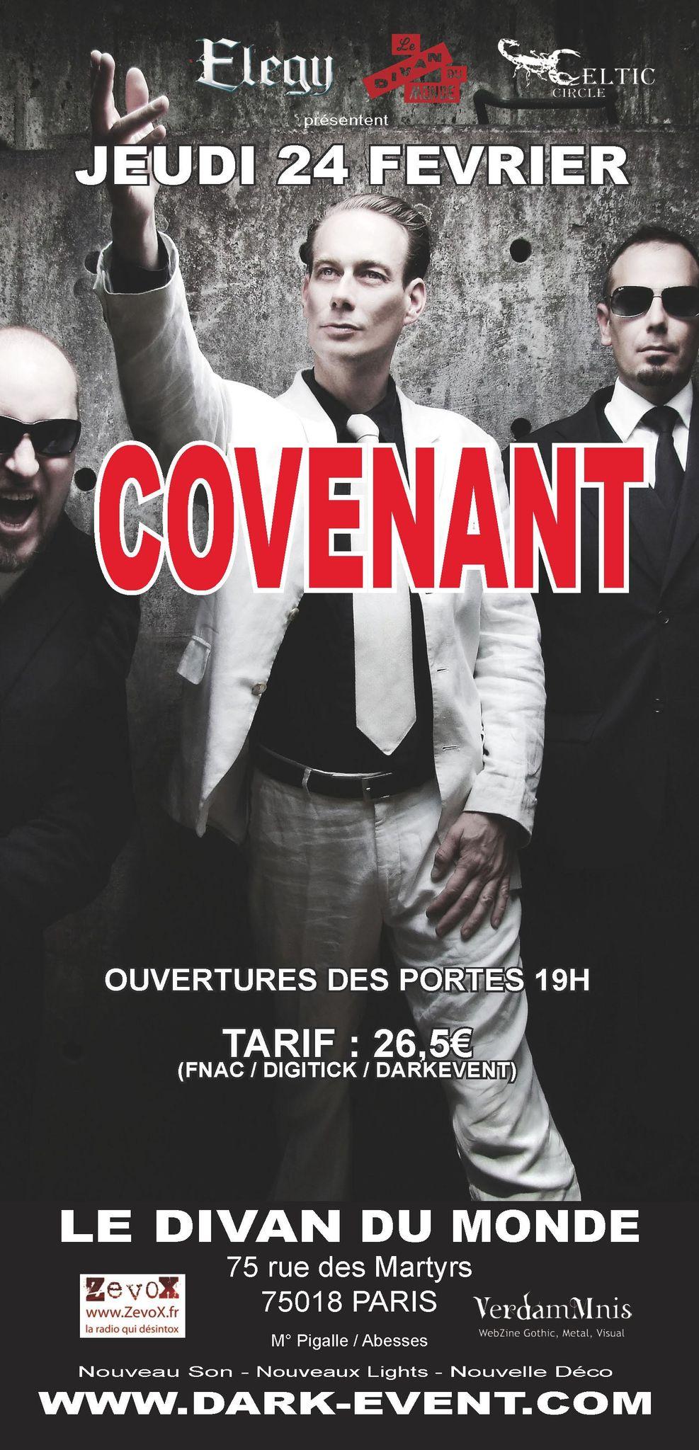 Covenant @ Divan du Monde (Paris), le 24 Février 2011