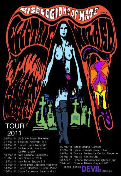 Electric Wizard + Devil au Trabendo (Paris), le 08 Mars 2011