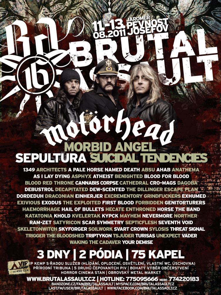 Brutal Assault 2011 @  Jaromer (100km de Prague, République Tchèque) , du 11 au 13 Aout 2011