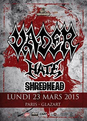 Vader + Hate @ Glazart (Paris), le 23 Mars 2015