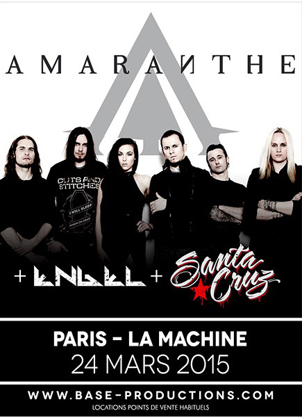 Amaranthe + Engel + Santa Cruz @ La Machine du Moulin Rouge (Paris), le 24 Mars 2015