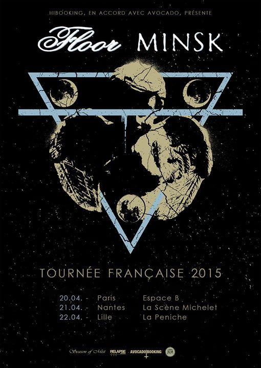Floor + Minsk + Kayo Dot + Botanist @ Espace B (Paris), le 20 Avril 2015