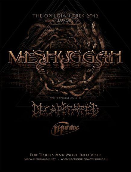 Meshuggah + Decapitated @ Bataclan (Paris), le 02 Décembre 2012