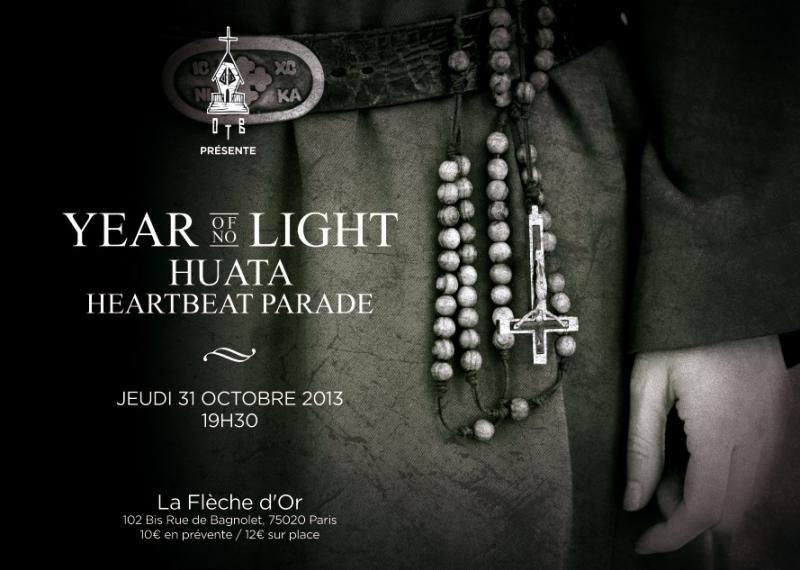 Year of No Light + Huata @ Flèche d'Or (Paris), le 31 Octobre 2013