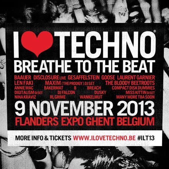 I LOVE TECHNO, Gand (Belgique), le 09 Novembre 2013