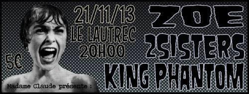Zoe + 2 Sisters @ Lautres (Paris), le 21 Novembre 2013