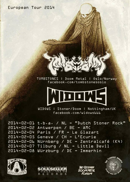 Tombstones + Widows @ Glazart (Paris), le 04 Février 2014