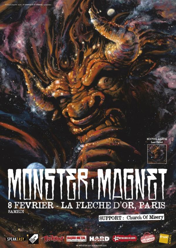 Monster Magnet + Church Of Misery @ Flèche d'Or (Paris), 08 Février 2014
