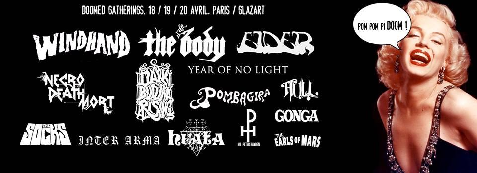 Doomed Gatherings @Glaz'art (Paris), le 19 Avril 2014