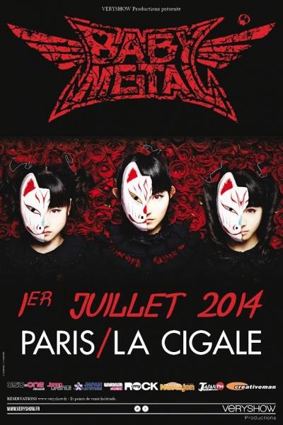 Babymetal @ Cigale (Paris), le 01 Juillet 2014