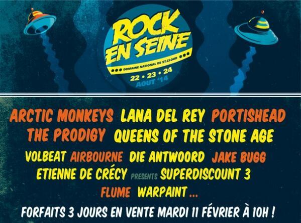Rock En Seine (Paris), les 23 et 24 Août 2014