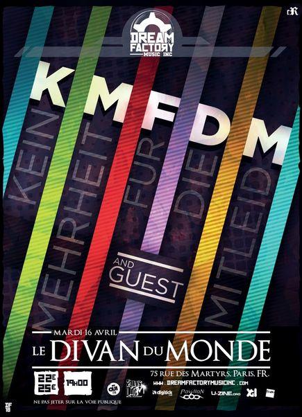KMFDM @ Divan du Monde (Paris), le 16 Avril 2013