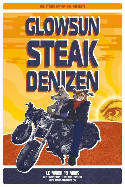 Grand Central – (Glowsun) + Steak + Denizen @ Combustibles (Paris), le 19 Mars 2013
