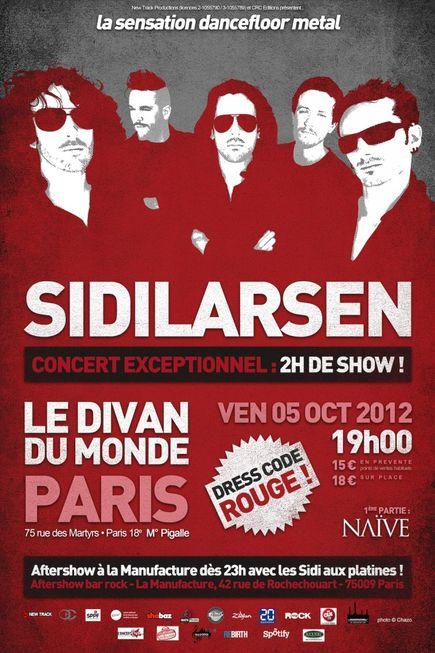 Sidilarsen + Naïve @ Divan du Monde (Paris), le 05 Octobre 2012
