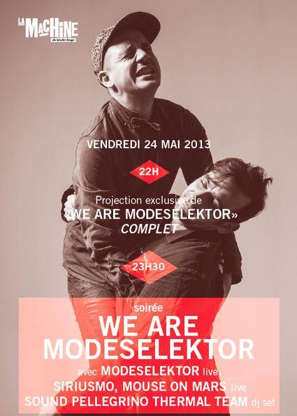 Modeselektor + Mouse On Mars + Siriusmo @ Machine du Moulin Rouge (Paris), le 24 Mai 2013