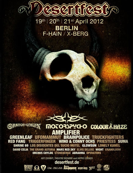DesertFest @ Berlin (Allemagne) 19,20,21 Avril 2012