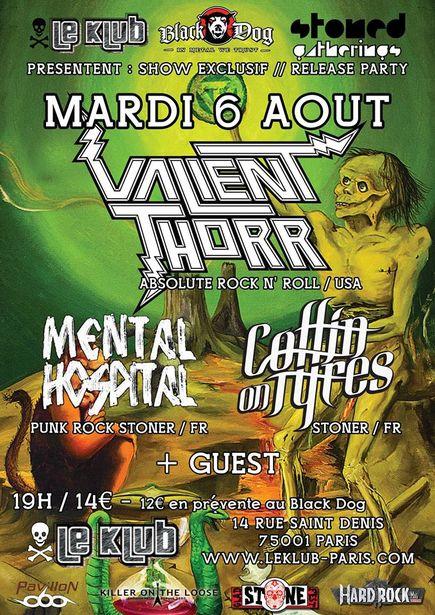 Valient Thorr + Coffin On Tyres @ Klub (Paris), le 6 Aout 2013