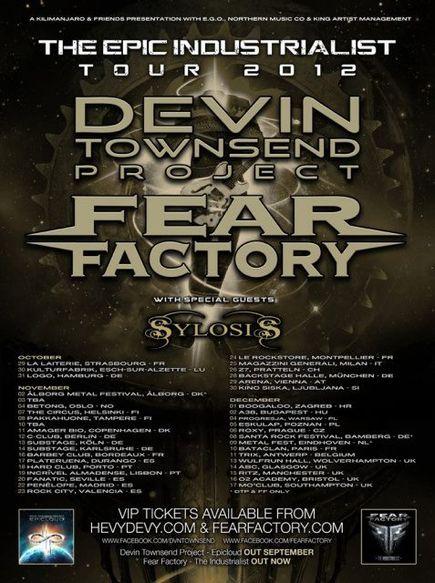 Devin Townsend + Fear Factory + Dagoba @ Bataclan (Paris), le 10 Décembre 2012