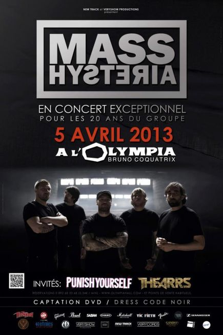 Mass Hysteria + Punish Yourself @ Olympia (Paris), le 05 Avril 2013