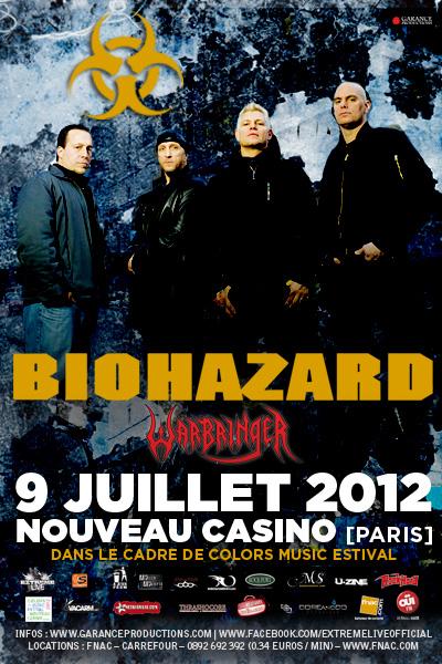 Biohazard + Warbringer @ Nouveau Casino (Paris), le 9 juillet 2012