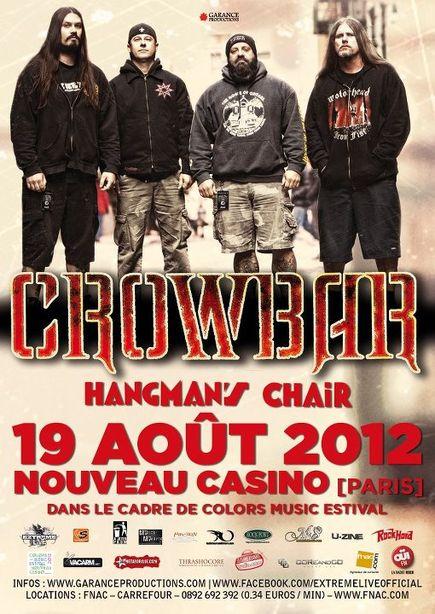 Crowbar + Hangman's Chair @ Nouveau Casino (Paris), le 19 Aout 2012