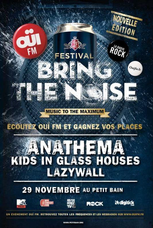 Bring The Noise, OüiFM Festival : Anathema au Petit Bain (Paris), le 29 Novembre 2011
