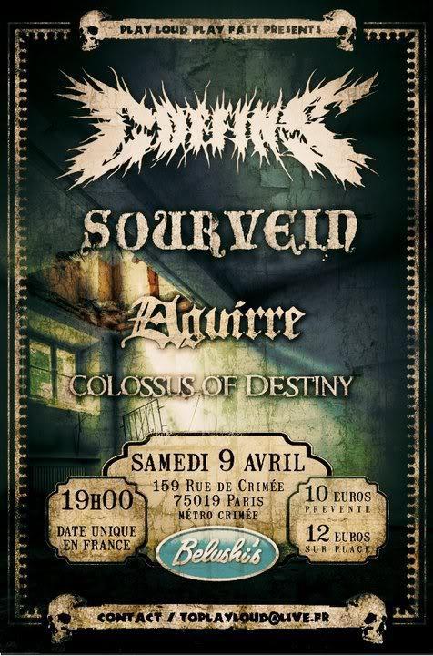 Coffins + Sourvein @ Belushi's (Paris), le 09 Avril 2011