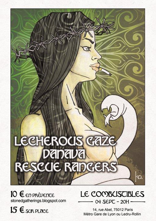 Danava + Lecherous Gaze + Rescue Rangers @ Combustibles (Paris), le 04 Septembre 2011