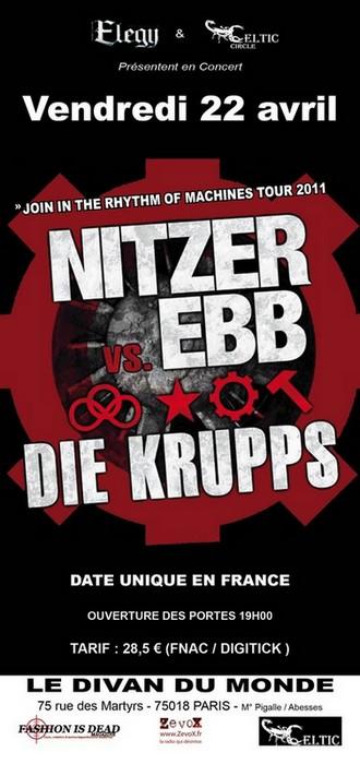 Nitzer Ebb VS Die Krupps + Dernière Volonté au Divan du Monde (Paris), le 22 Avril 2011