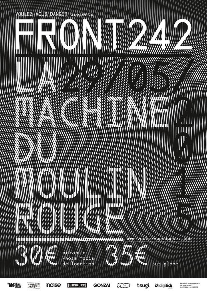 Front 242 @ La Machine du Moulin Rouge (Paris), le 29 Mai 2015