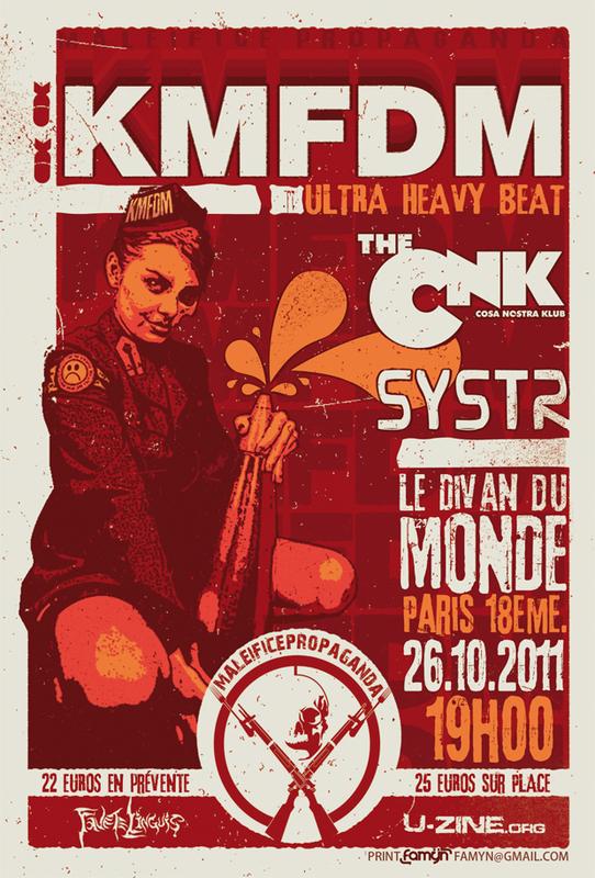 Kmfdm + Cnk + Systr @ Divan du Monde (Paris), le 26 Octobre 2011