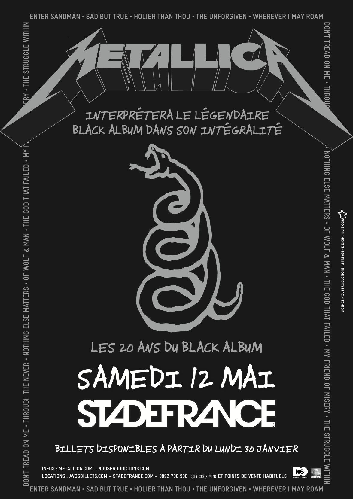 Metallica + The Kills + Gojira @ Stade de France (Paris), le 12 Mai 2012