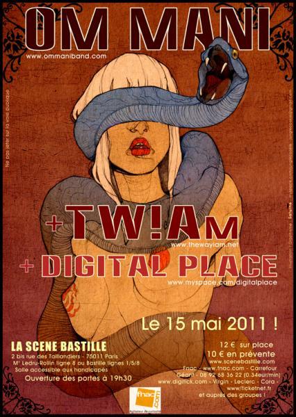 Om Mani + TW!AM @ La Scène Bastille (Paris), le 15 Mai 2011