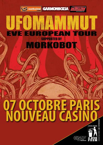 Ufomammut + Morkobot @ Nouveau Casino (Paris), le 07 Octobre 2011