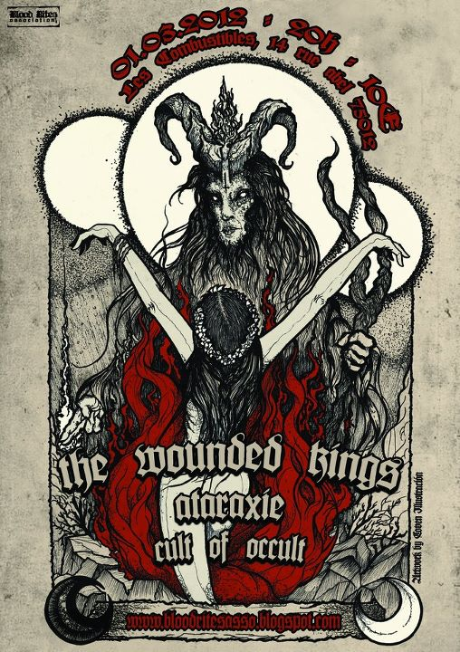 The Wounded Kings + Ataraxie + Cult Of Occult aux Combustibles (Paris) le 01 Mars 2012