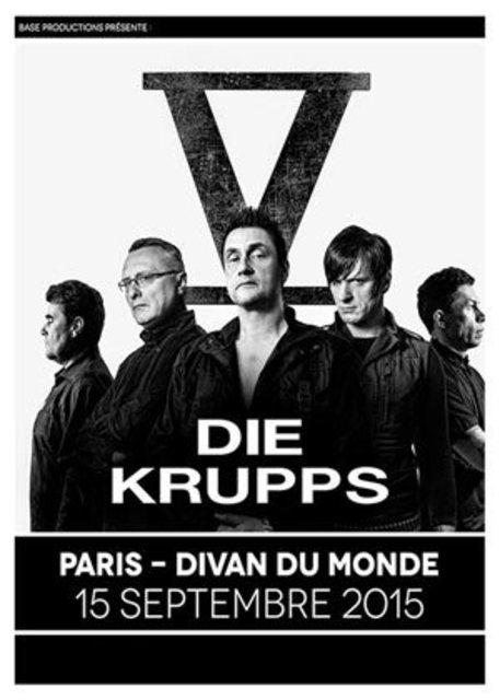 Die Krupps @ Divan du Monde (Paris), le 15 Septembre 2015