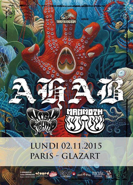 Ahab + Mammoth Storm @ Glazart (Paris), le 2 Novembre 2015